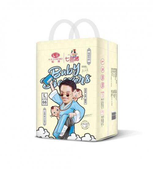 七色猪婴儿纸尿裤品牌打造中国婴幼儿纸尿裤国货优品