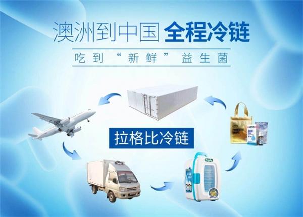 拉格比益生菌采用全程冷链运输,从澳洲到中国