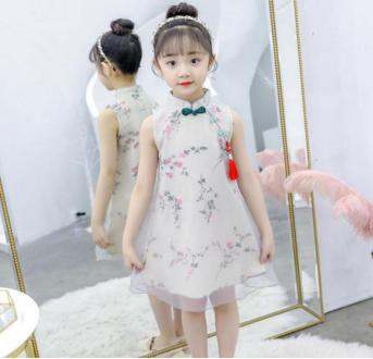 樱西子童装传统复古风改良旗袍