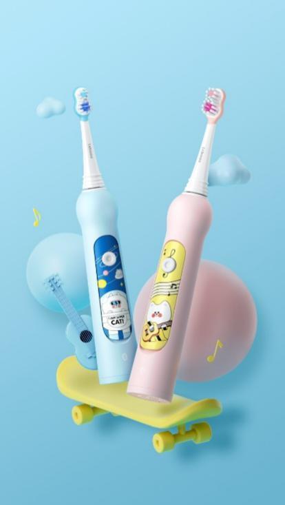 华为智选力博得智能儿童牙刷针对4-12岁年龄段儿童设计