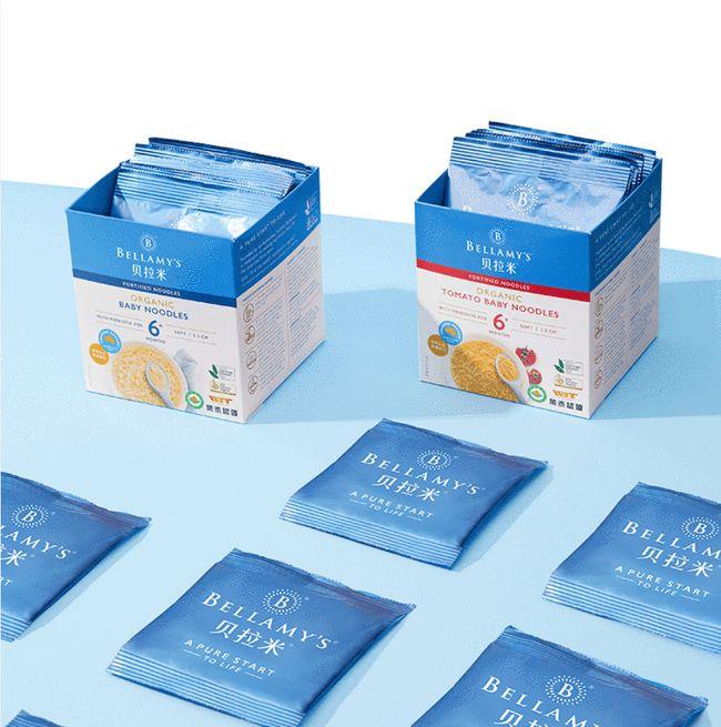 有机婴童食品品牌贝拉米推出有机益生元宝宝面 完善产品矩阵和健全细分品类